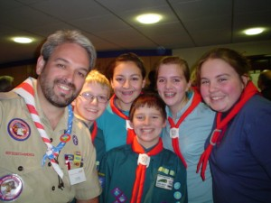 Rick w UK scouts at BP House